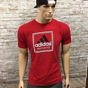 Men's Adidas 3 Stripe Brand Logo T Shirt Sz Large